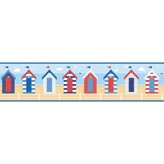 Multicolor Beach Huts Peel & Stick Border|https://ak1.ostkcdn.com/images/products/16391678/P22742175.jpg?impolicy=medium