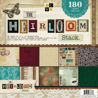 "DCWV Paper Stack 12""X12"" 180/Sheets-Heirloom, 60 Designs/3 Each"