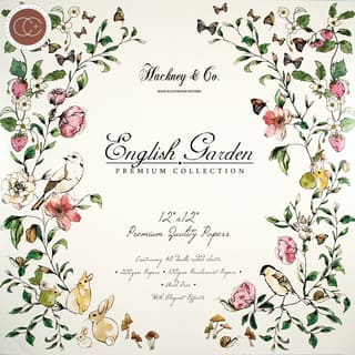 "Craft Consortium Double-Sided Paper Pad 12""X12"" 40/Pkg-English Garden