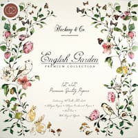 "Craft Consortium Double-Sided Paper Pad 12""X12"" 40/Pkg-English Garden"