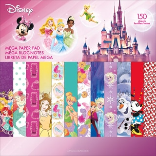 "Disney Single-Sided Mega Paper Pad 12""X12"" 150/Pkg-Girl 2, 50 Designs/3 Each"