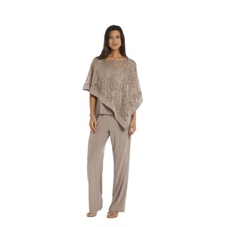 R&M Richards Mocha Poncho Pant Set