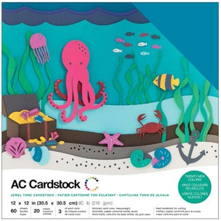 "American Crafts Variety Cardstock Pack 12""X12"" 60/Pkg-Jewel"
