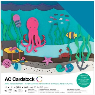 "American Crafts Variety Cardstock Pack 12""X12"" 60/Pkg-Jewel"