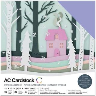 "American Crafts Variety Cardstock Pack 12""X12"" 60/Pkg-Winter"