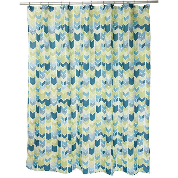 Famous Home Braxton Teal Shower Curtain