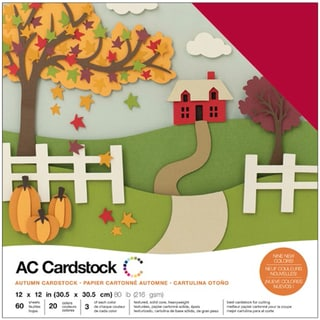 """American Crafts Variety Cardstock Pack 12""""X12"""" 60/Pkg-Autumn"""