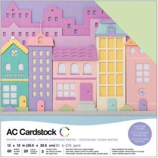 "American Crafts Variety Cardstock Pack 12""X12"" 60/Pkg-Pastels"