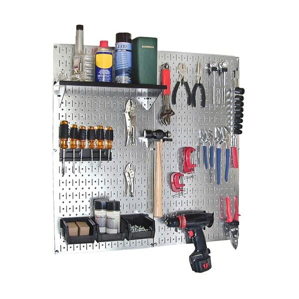 Wall Control Metallic Pegboard And Red Metal Pegboard: Shop Wall Control Metal Pegboard Utility Tool Storage Kit
