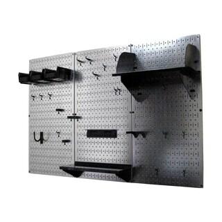 Wall Control 4ft Metal Pegboard Tool Storage Kit - Galvanized Metallic Toolboard