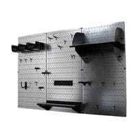 Wall Control 4ft Metal Pegboard Tool Storage Kit - Galvanized Metallic Toolboard