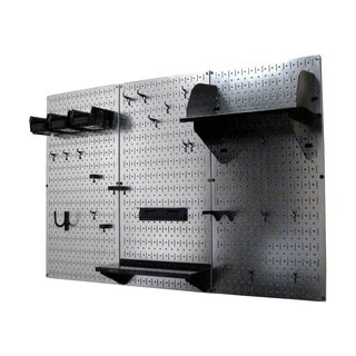 Wall Control 4ft Metal Pegboard Tool Storage Kit - Galvanized Metallic Toolboard (4 options available)