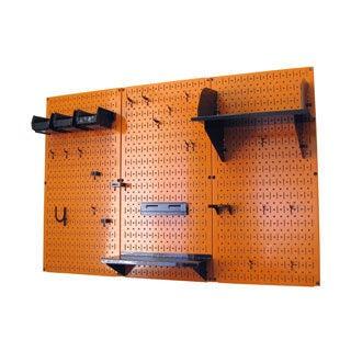 Wall Control 4 feet Metal Pegboard Standard Tool Storage Kit - Orange Toolboard