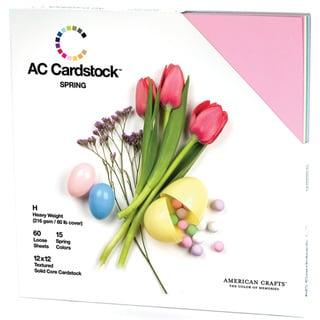 """American Crafts Textured Cardstock Pack 12""""X12"""" 60/Pkg-Spring Seasonal"""