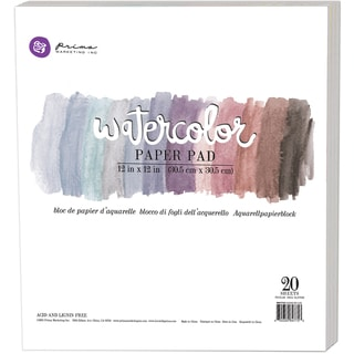 "Prima Watercolor Paper Pad 12""X12"" 20/Pkg-"