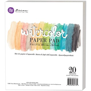 "Prima Watercolor Paper Pad 8""X8"" 20/Pkg-"