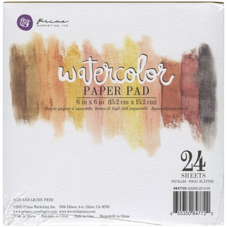 "Prima Watercolor Paper Pad 6""X6"" 24/Pkg-"