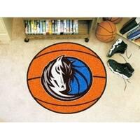 "NBA - Dallas Mavericks Basketball Mat 27"" diameter"