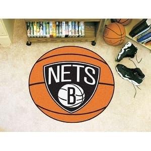 """NBA - Brooklyn Nets Basketball Mat 27"""" diameter"""
