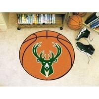 """NBA - Milwaukee Bucks Basketball Mat 27"""" diameter"""