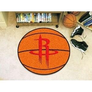 """NBA - Houston Rockets Basketball Mat 27"""" diameter"""