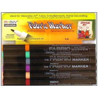 Uchida Fabric Marker Fine Point Set 6pc Pastel