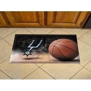 "NBA - San Antonio Spurs Scraper Mat 19""x30"" - Ball"