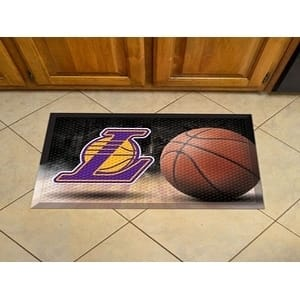 "NBA - Los Angeles Lakers Scraper Mat 19""x30"" - Ball"