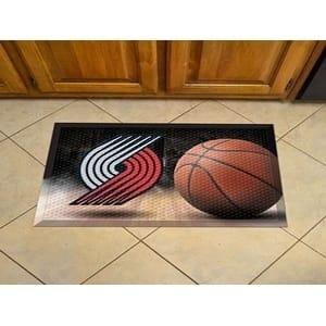 """NBA - Portland Trail Blazers Scraper Mat 19""""x30"""" - Ball"""