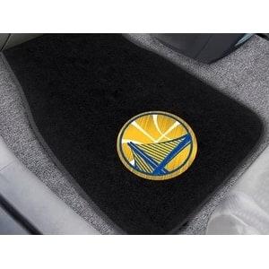 "NBA - Golden State Warriors 2-pc Embroidered Car Mats 18""x27"""