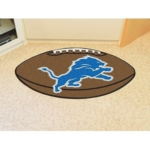"Sports Licensing NFL - Detroit Lions Football Rug 20.5""x3..."