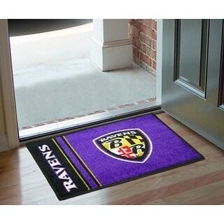 """NFL - Baltimore Ravens Uniform Starter Rug 19""""x30"""""""
