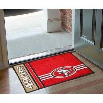 """NFL - San Francisco 49ers Uniform Starter Rug 19""""x30"""""""