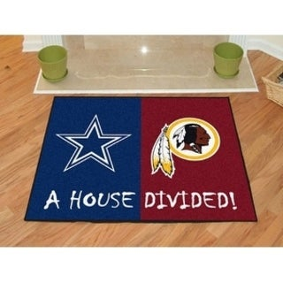 "NFL - Cowboys - Redskins House Divided Rug 33.75""x42.5"""