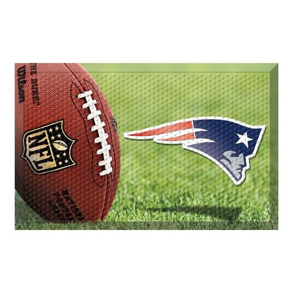 """NFL - New England Patriots Scraper Mat 19""""x30"""" - Ball. Opens flyout."""