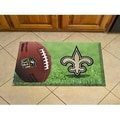 "Link to NFL - New Orleans Saints Scraper Mat 19""x30"" - Ball Similar Items in Fan Shop"
