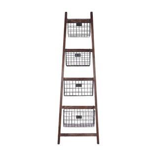 Cheung's 4 Metal Storage Basket Ladder