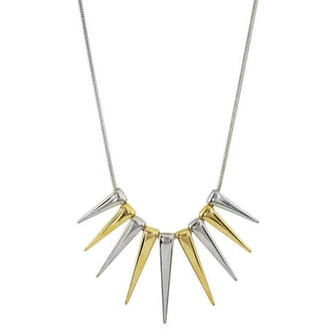 Two-Tone Spike Necklace