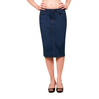 Bluberry Denim Women's Medium-blue Knee-length Skirt