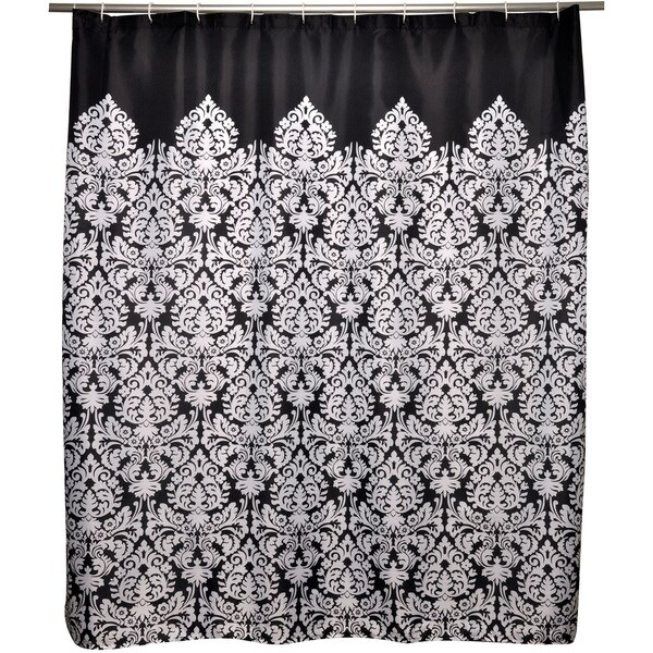 Bon Famous Home Essence Damask Shower Curtain