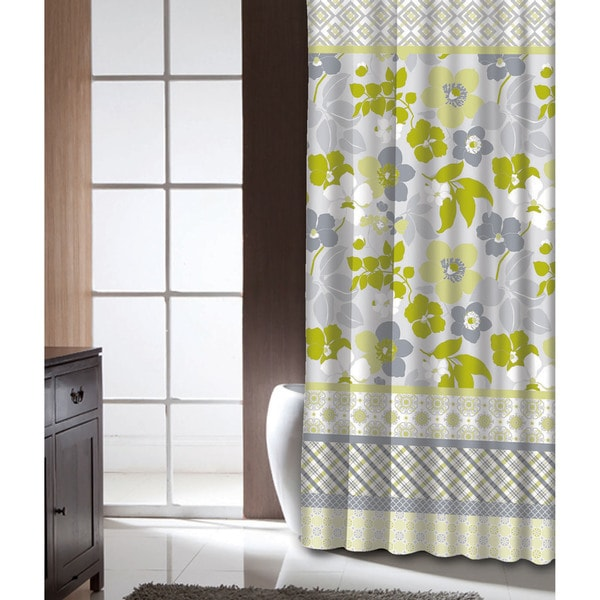Shop Famous Home Lindsey Lime Shower Curtain