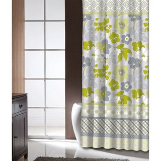 Famous Home Lindsey Lime Shower Curtain