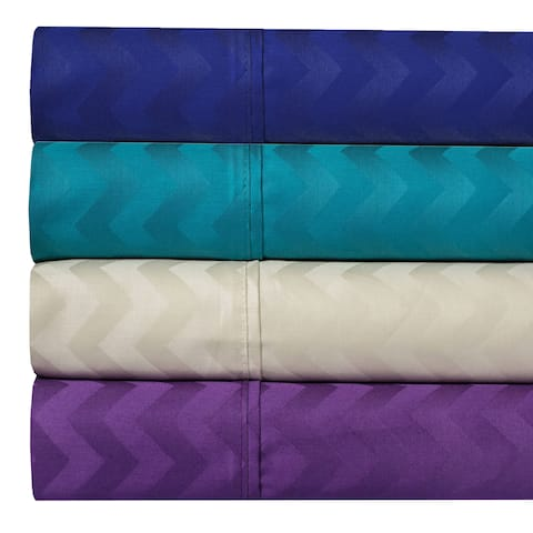 400 Thread Count 100% Cotton Chevron Jacquard Sheet Set