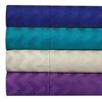 400 Thread Count 100% Cotton Chevron Jacquard Sheet Set