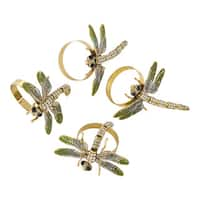 Jeweled Dragonfly Napkin Ring - Set of 4