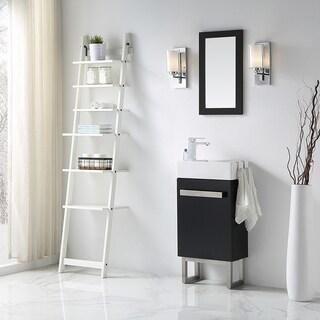 OVE Decors Mica Black Wood 18-inch Bathroom Space Saver