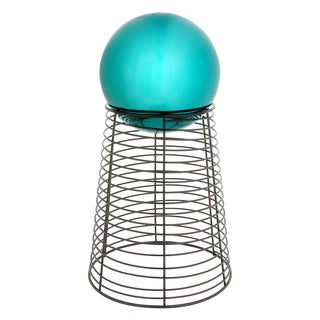 Trademark Innovations 12-inch Tall Metal Gazing Ball Stand for 8-inch to 10-inch Gazing Ball