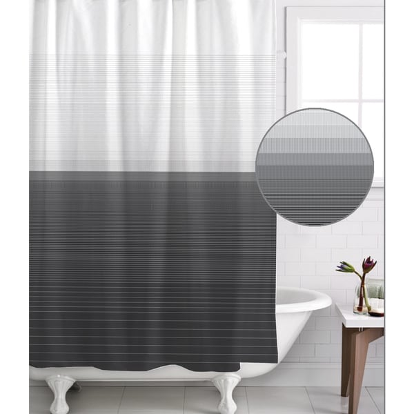 Famous Home Zack Pewter Shower Curtain - Free Shipping On Orders ...