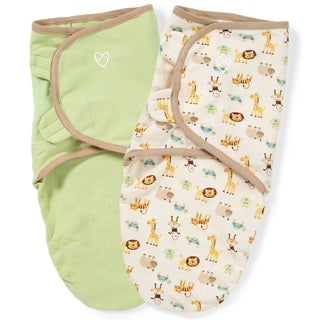 Summer Infant Zoo and Sage Small SwaddleMe Original Organic Blanket (Pack of 2)