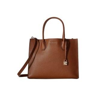 Michael Kors Studio Mercer Brown Leather Large Luggage Convertible Tote Bag